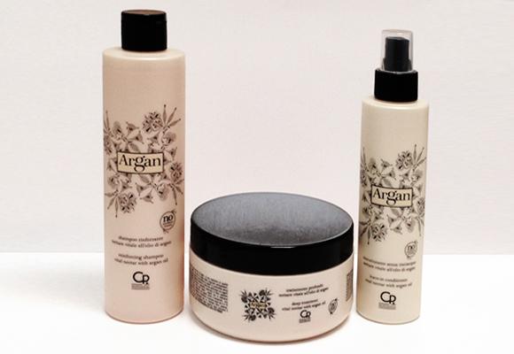 linea prodotti per capelli argan
