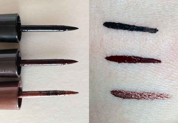 swatch eyeliner best color make up