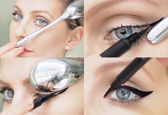 eyeliner con cucchiaino