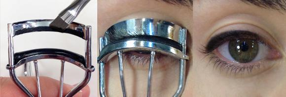 eyeliner con piegaciglia