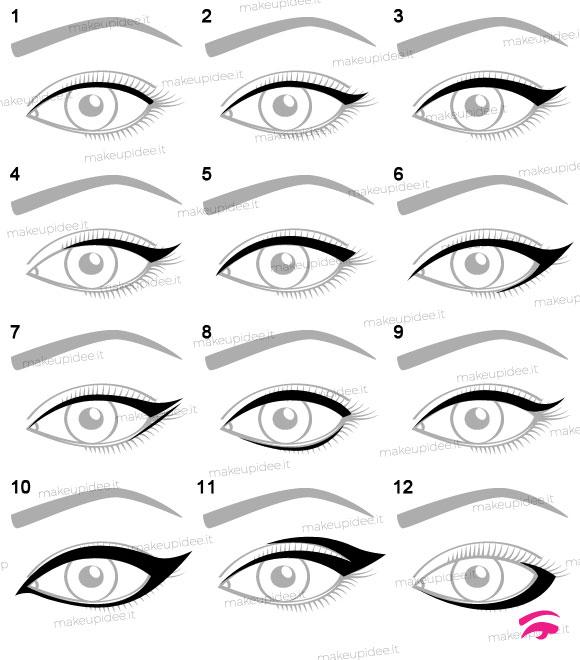 12 forme diverse eyeliner