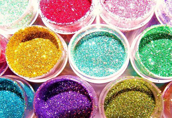 polveri glitterate colorate