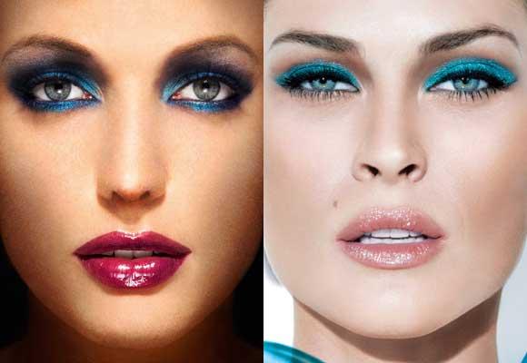trucco occhi blu