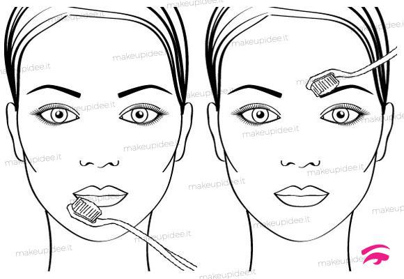 come utilizzare lo spazzolino da denti per il make up