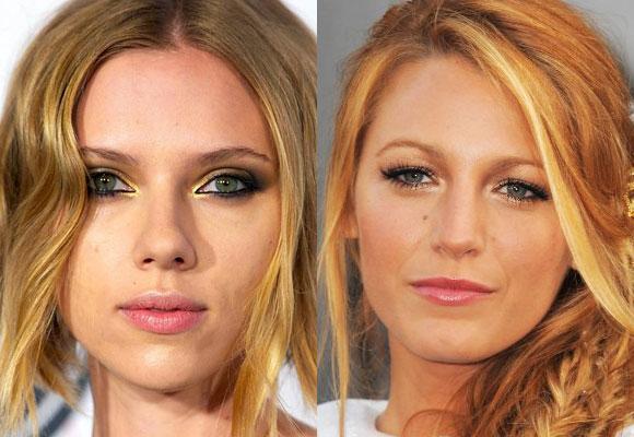 Il trucco di Scarlett Johansson e Blake Lively
