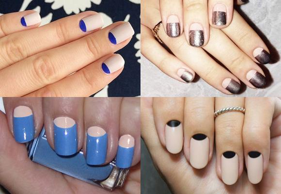 manicure a mezzaluna colori