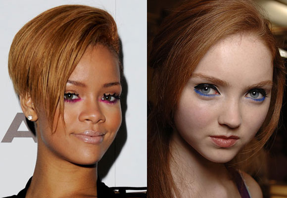 make-up rihanna lily cole