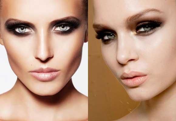 trucco occhi nero / marrone