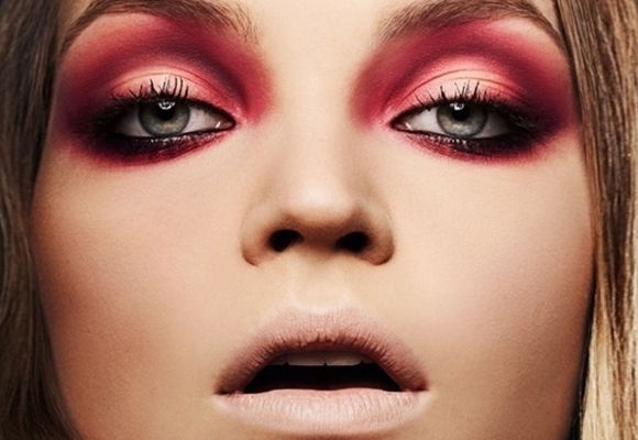 smokey eyes color marsala