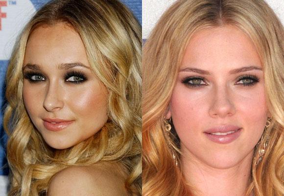 il trucco di Hayden Panettiere e Scarlett Johansson