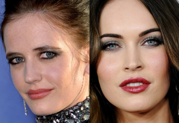 make up di eva green e megan fox