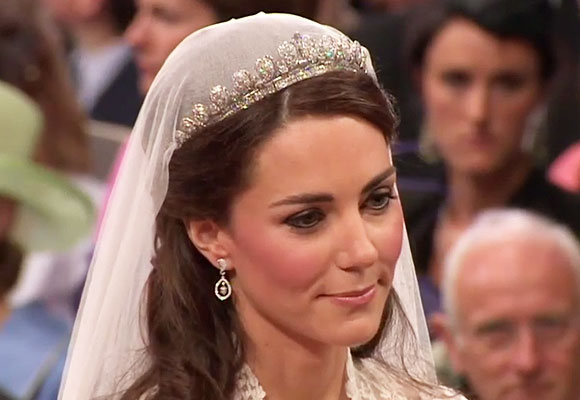 immagine di Kate Middleton durante il matrimonio