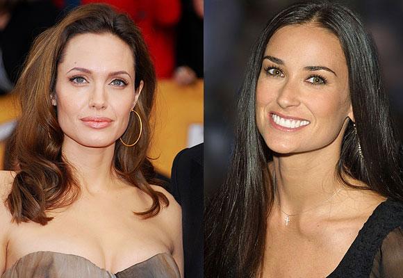 Angelina Jolie Demi Moore viso quadrato