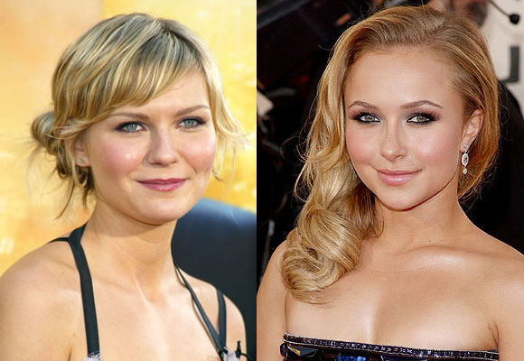 Hayden Panettiere e Kirsten Dunst make up